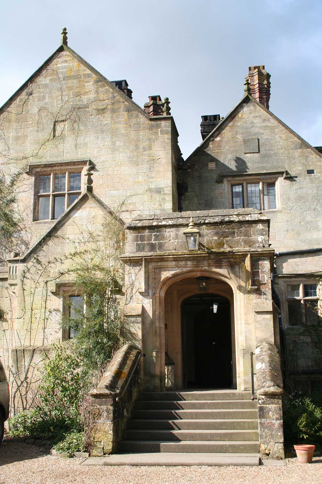 Gravetye Manor with Glass Entrance Doors