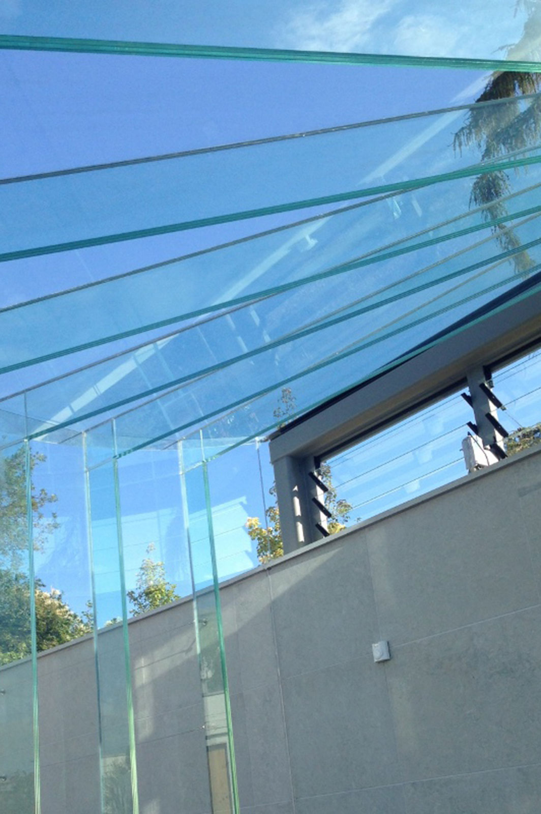 Structural Glass Lobby with Glass Beams and Fins, Glass Greenhouse