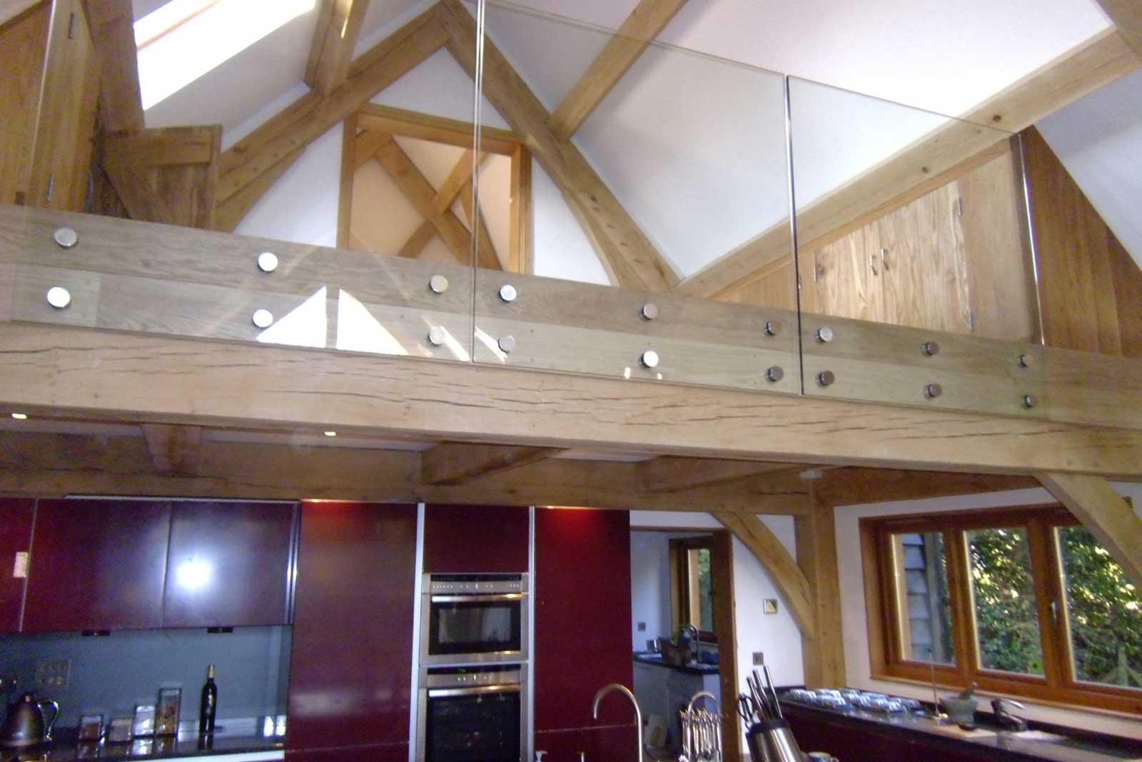 Internal Glass Balustrade to Mezzanine Floor Area, Bolt Fixed System