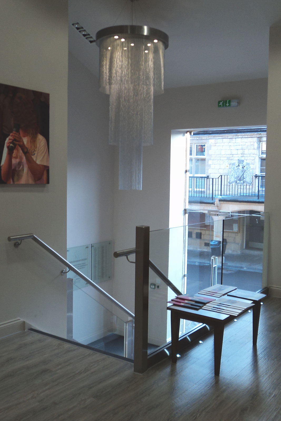 Frameless Glazed Balustrading with Stainless Steel Handrails