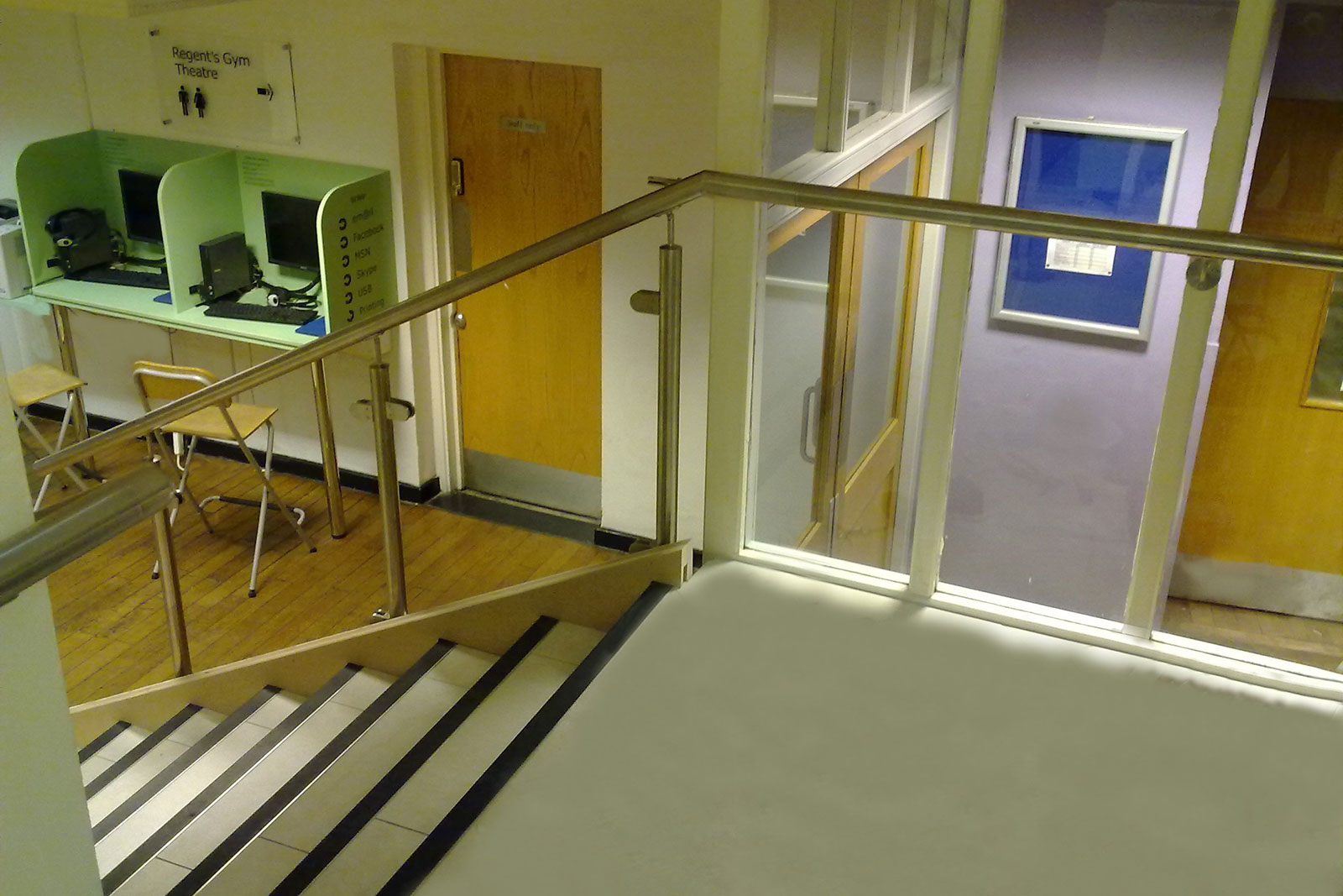 Combined Channel with Post & Rail Glass Balustrading System