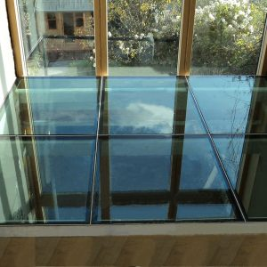 Structural Glass Flooring set into frame