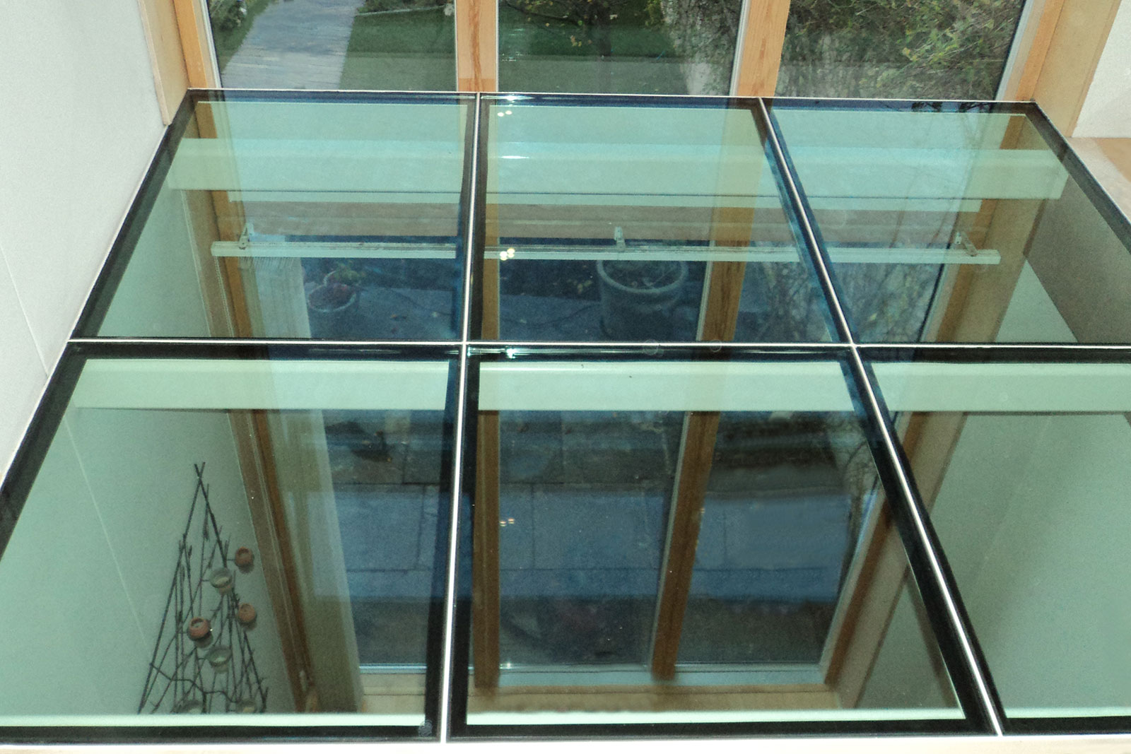 Structural Glass Flooring with Powder Coated Frame