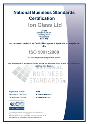 ion-glass-iso-9001-certificate