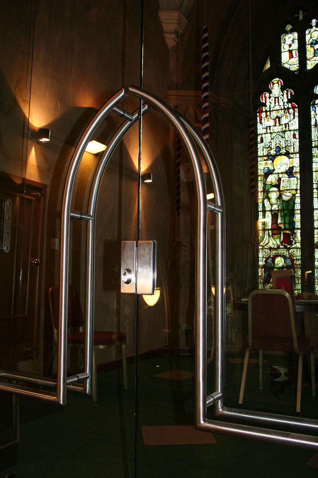 Stainless Steel Door Handles, St. Peter's Church