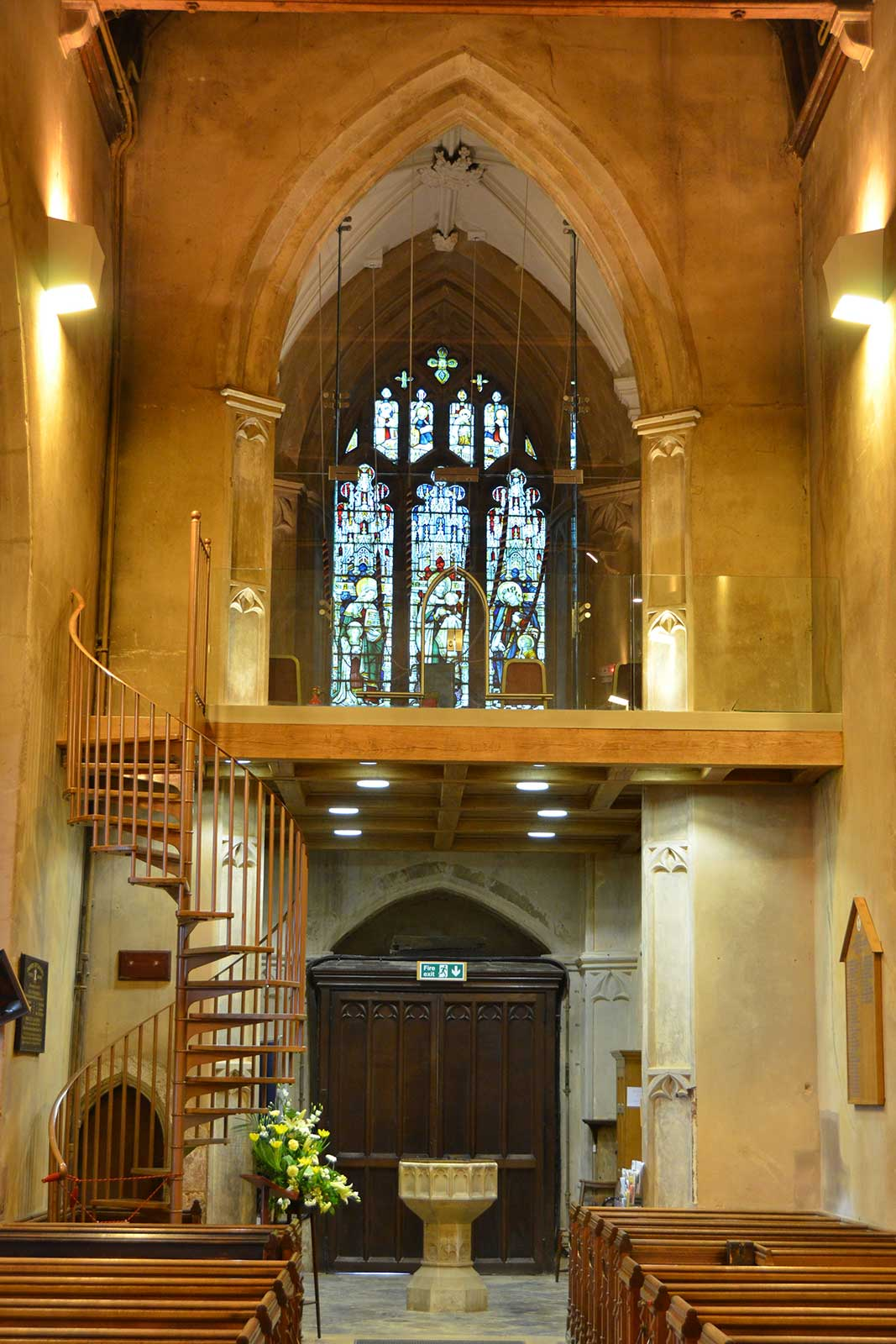 Structural Glass Bellringing Chamber, St. Peter's Church