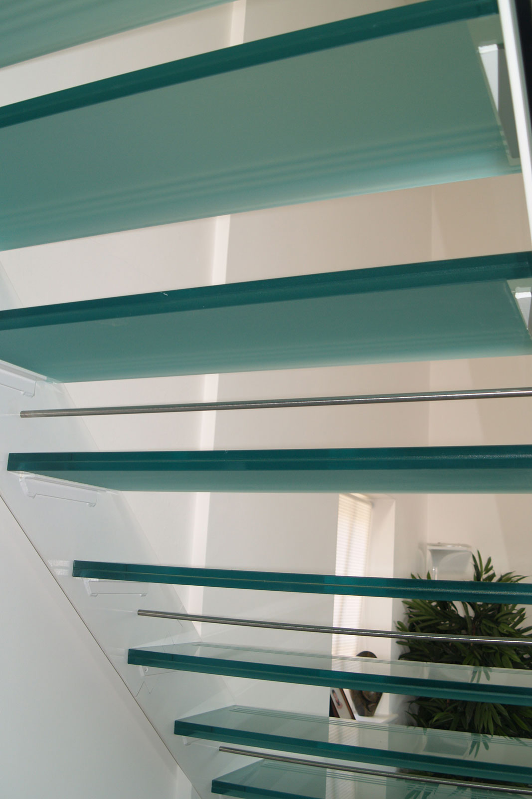 Glass Stair Treads with Frosted Glass