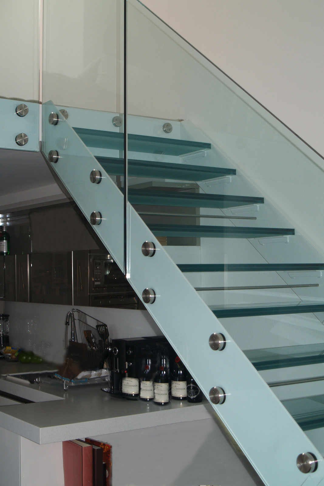 Frameless Glass Balustrades with Glass Stair Treads