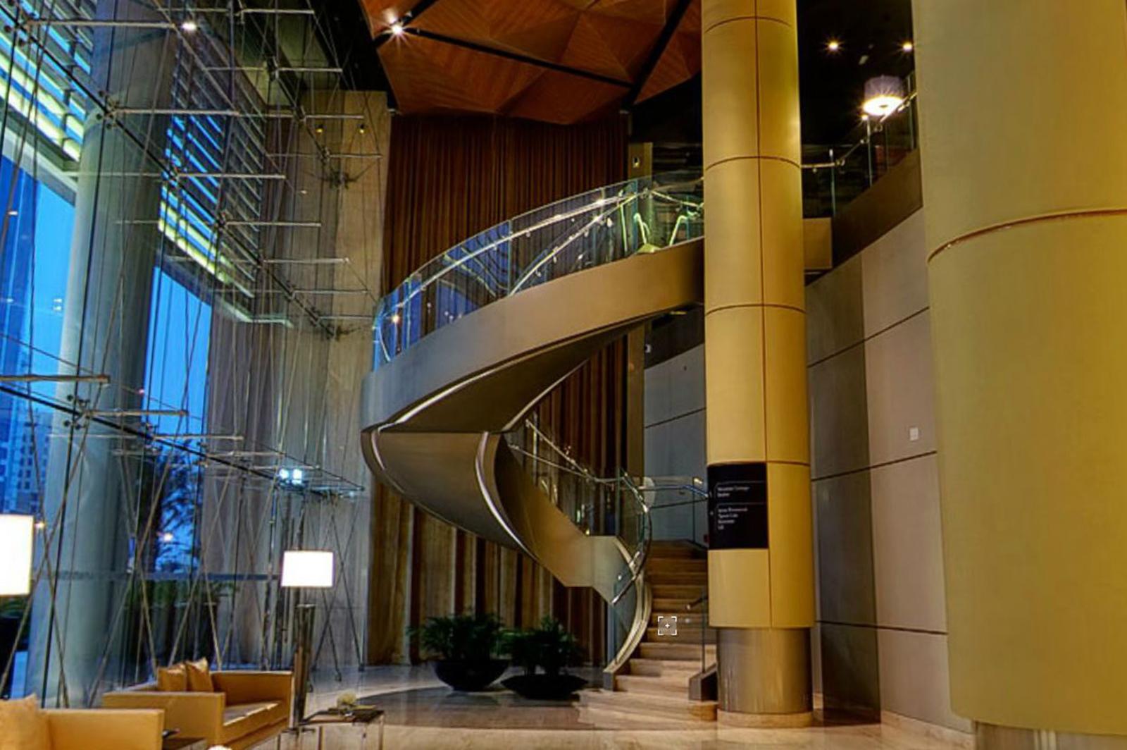 Curved Glass Balustrade, Kempinski Hotel