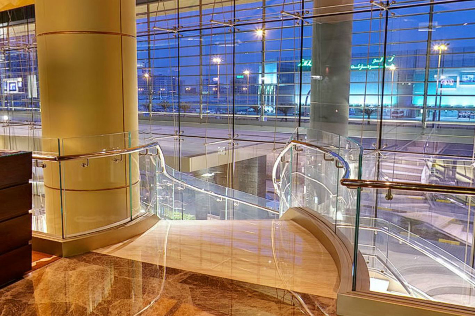 Curved Glass Balustrading, Kempinski Hotel
