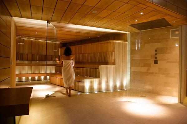 Lucknam Park Glass Sauna Enclosure