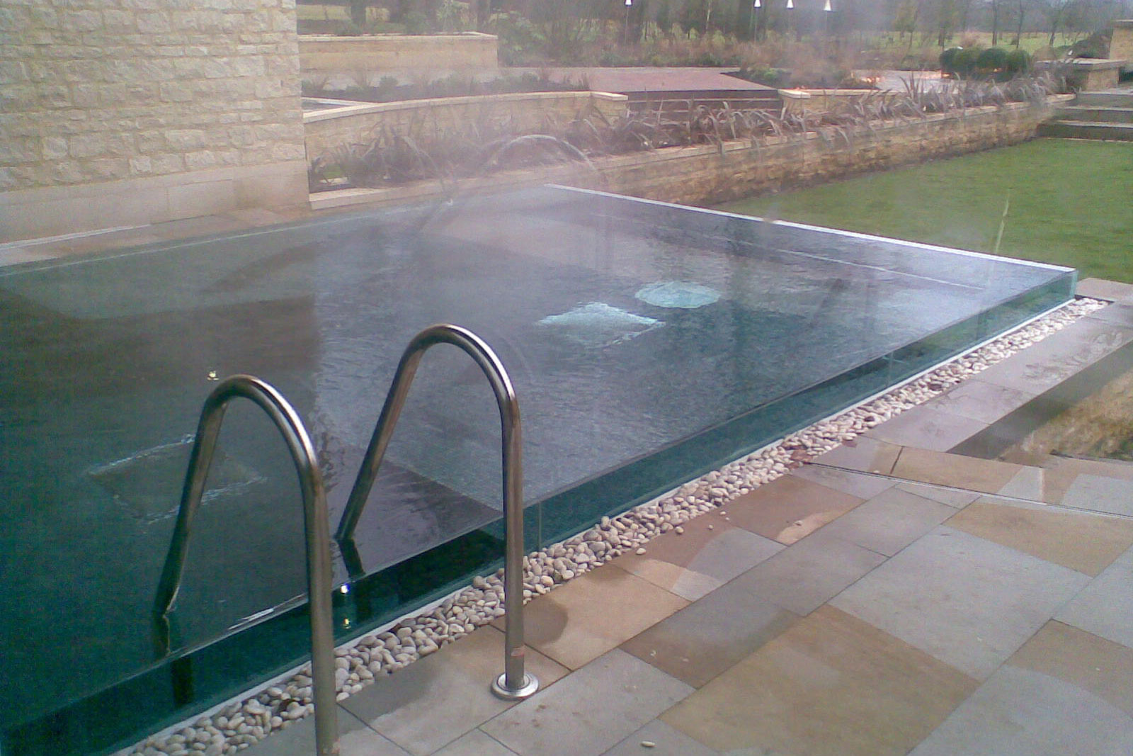 Frameless Glass Swimming Pool Vision Panel