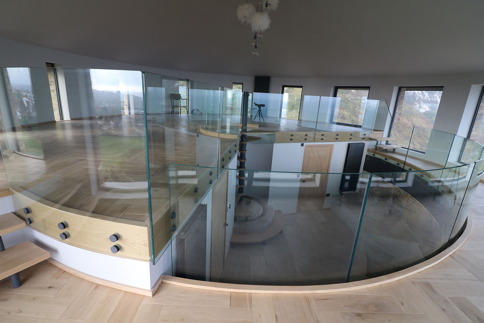 Curved Glass Balustrading, Martello Tower