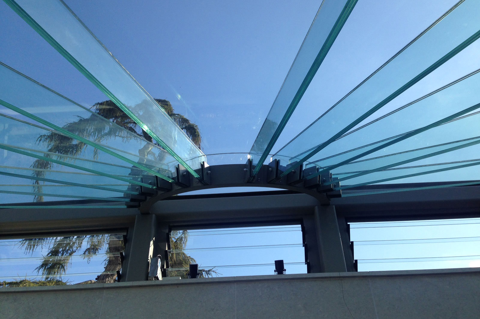 Structural Glass Roof with Beams and Louvre Windows, Glass Greenhouse