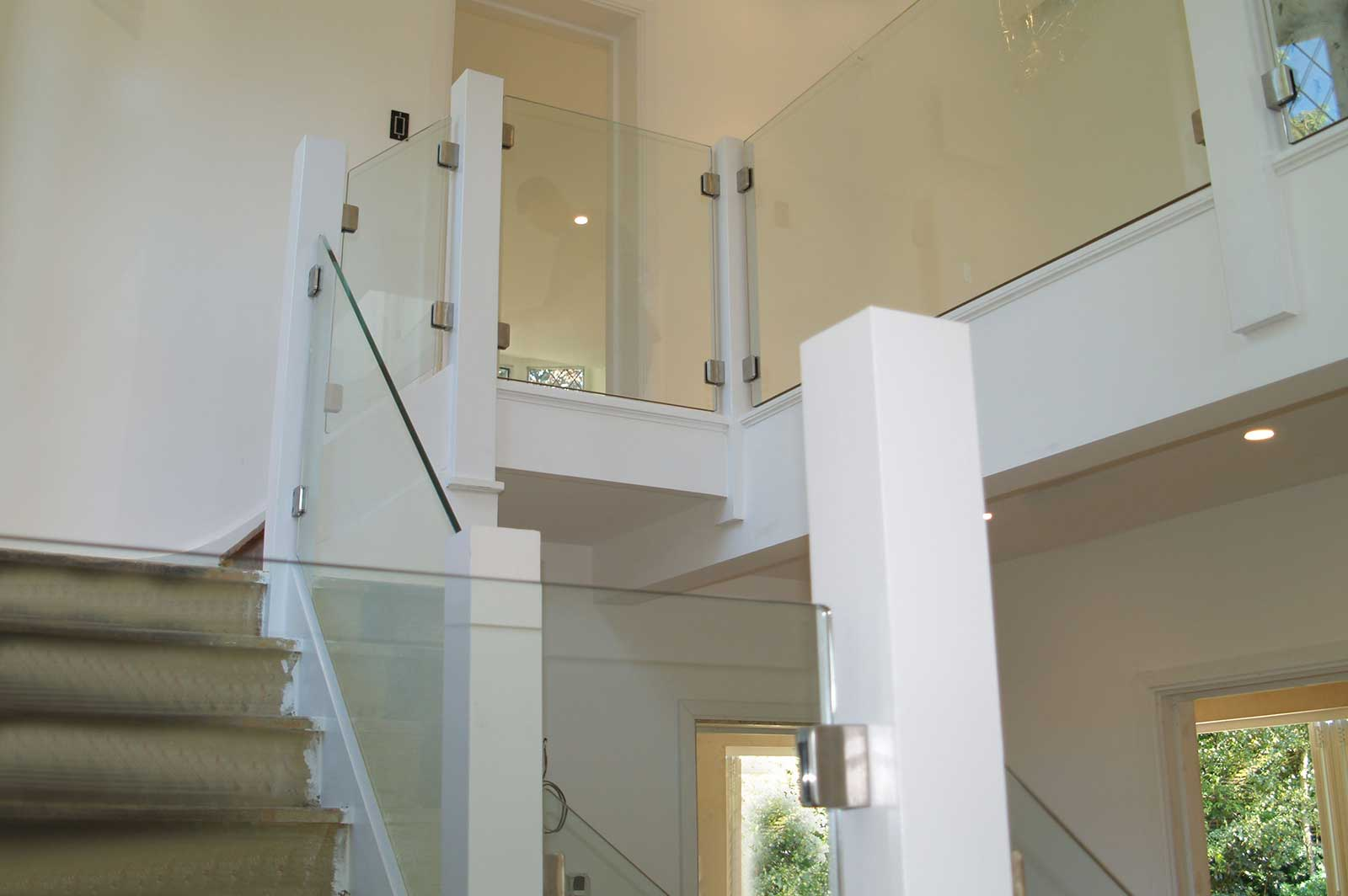 Glass Balustrades fixed with Post & Clamp System