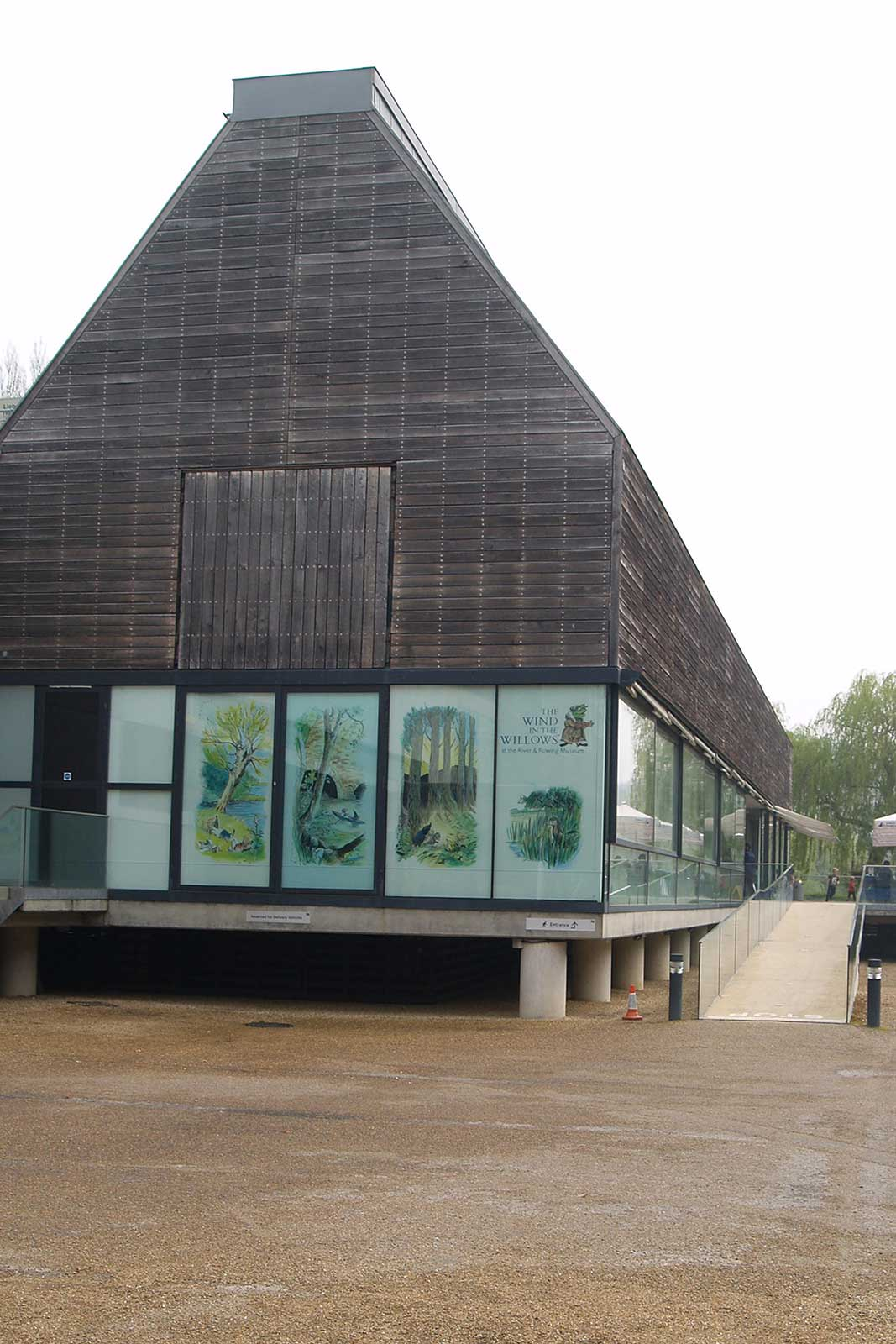 Disabled Access Glass Balustrade Museum Entrance