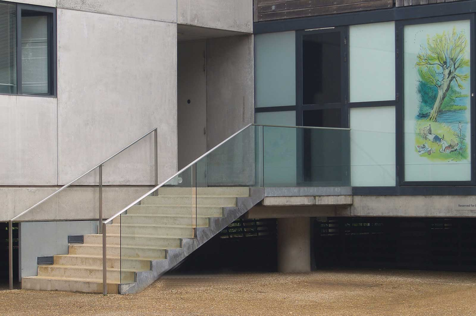 External Glass Balustrades, Museum Entrance