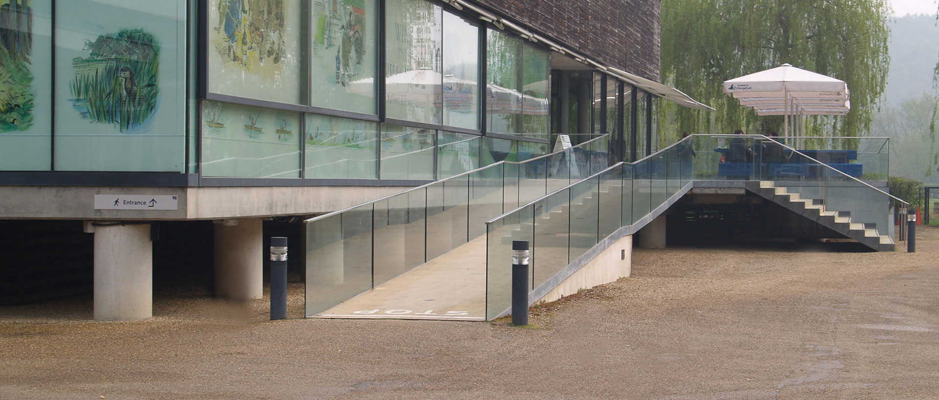 External Glass Balustrade to main museum entrance