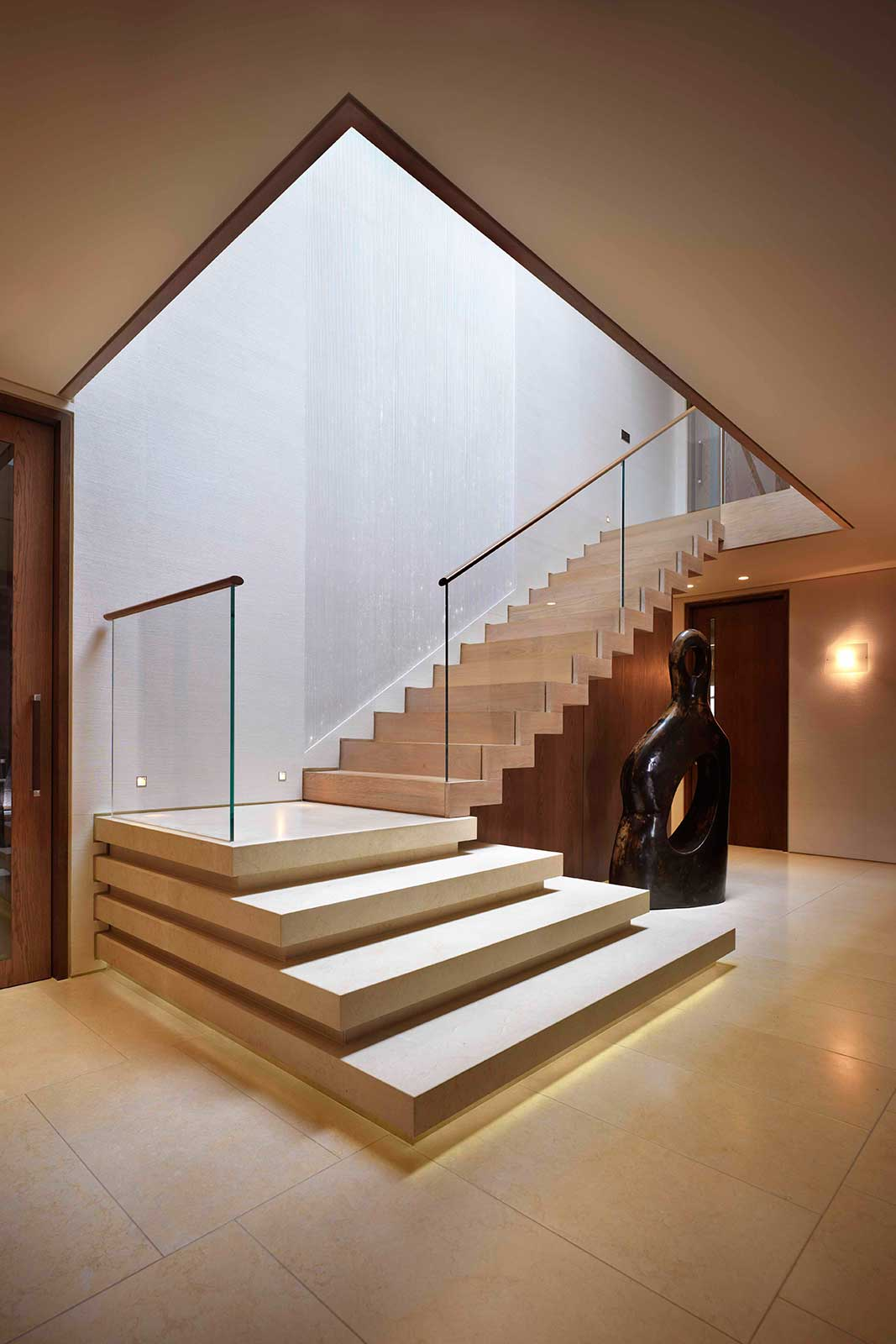 Channel Set Glass Staircase Balustrade