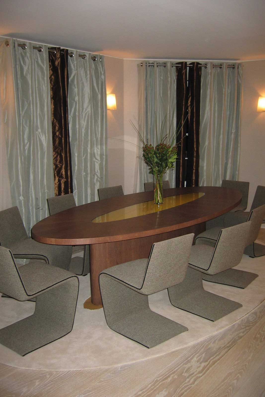 Dining Table with Bespoke Glass Table Insert