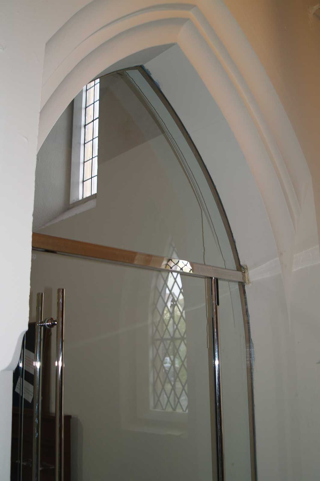 Anti-Pinch Glass Door System, St. Mark's Church