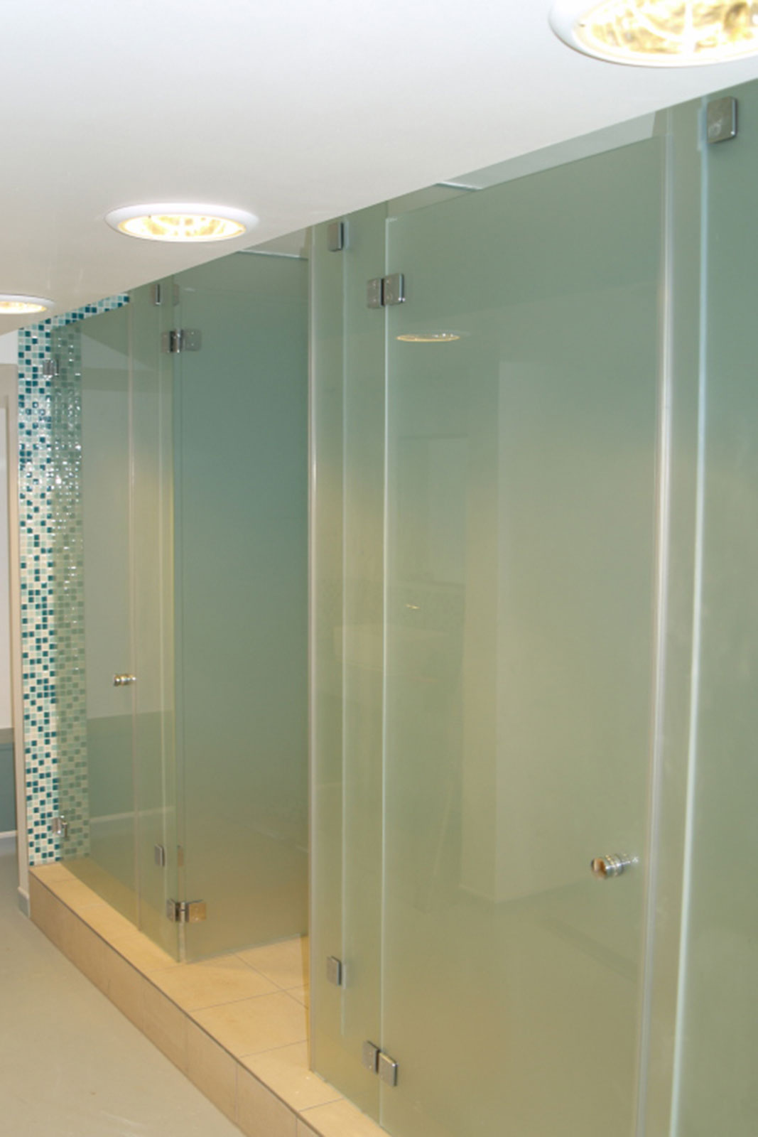 Frameless Glass Shower Cubicles, St. Mary's Axe