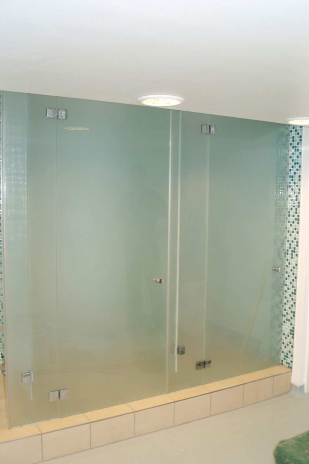 Frosted Glass Shower Cubicles, St. Mary's Axe