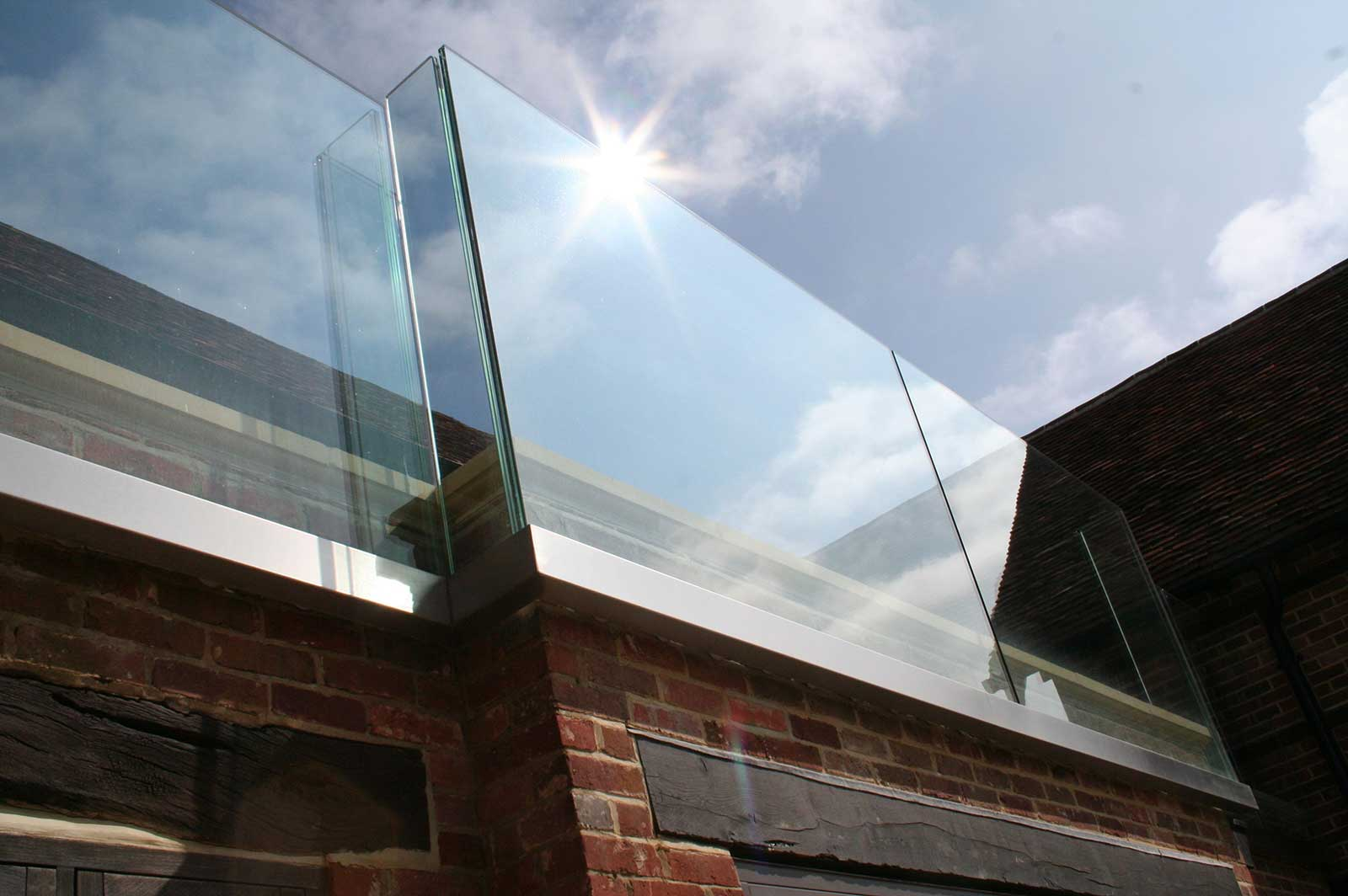 External Frameless Glass Balustrades, Streele Farm