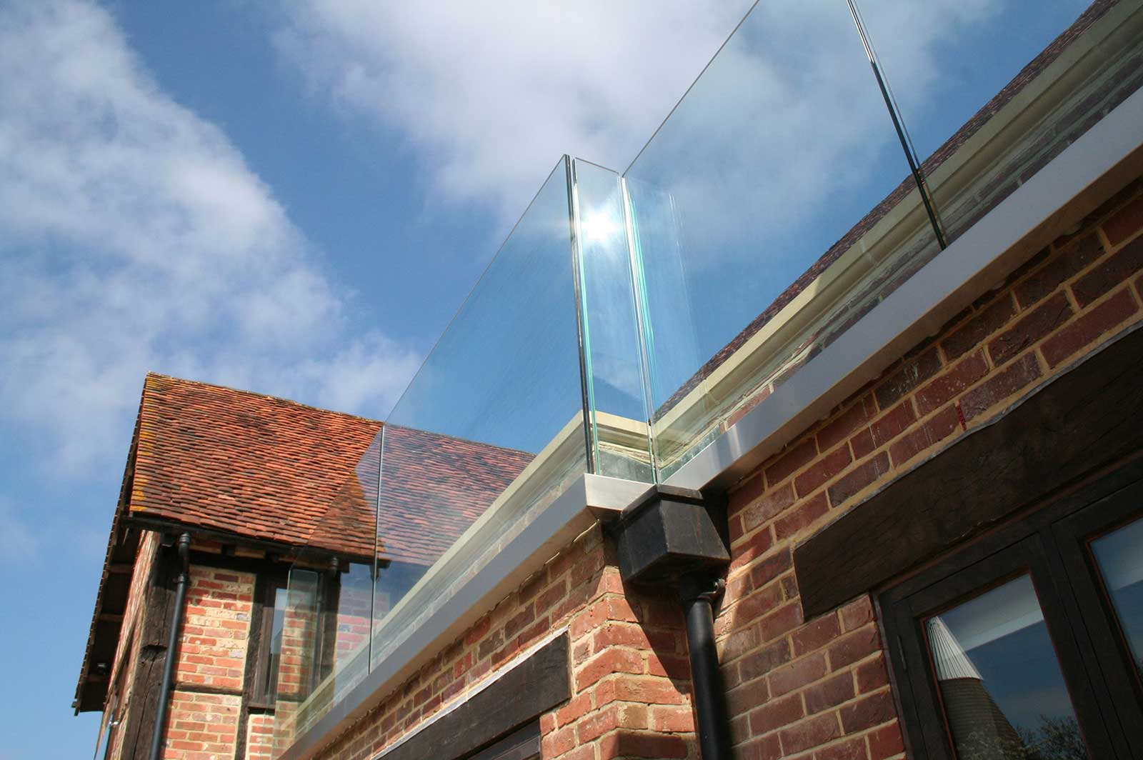 Frameless Glass Balustrades to Roof Terrace
