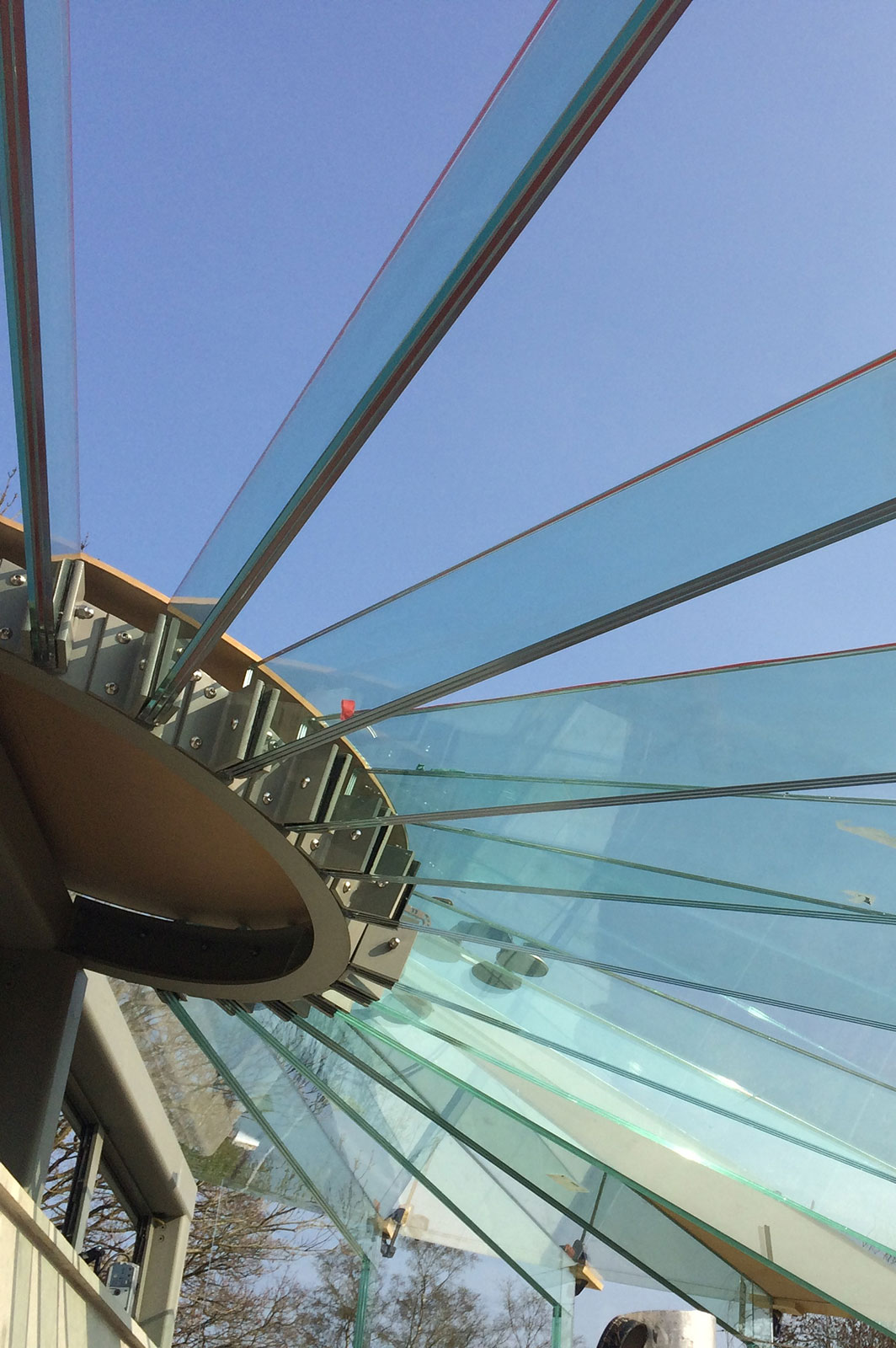 Structural Glass Roof With Triple Laminate Glass Beams