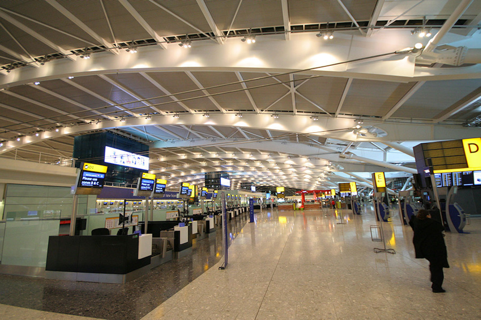 Backpainted Glass Installations, Heathrow Airport
