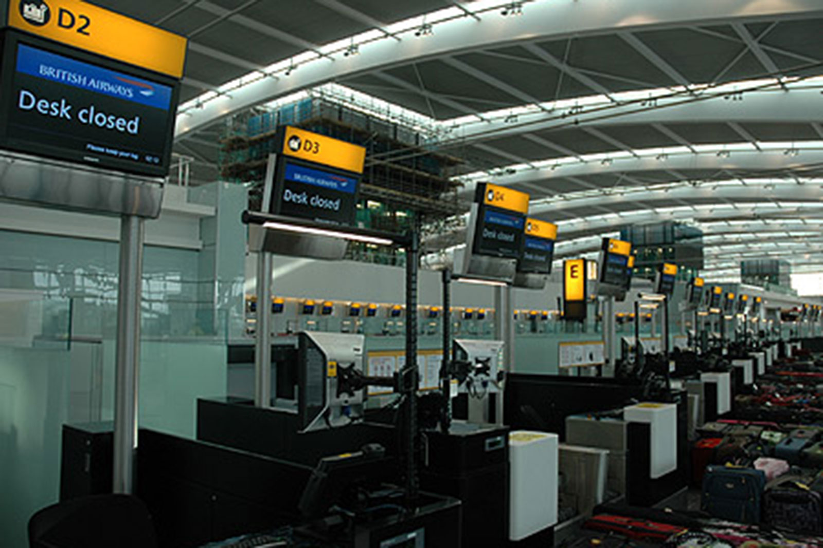 Coloured Glass Wall Cladding, Heathrow Airport