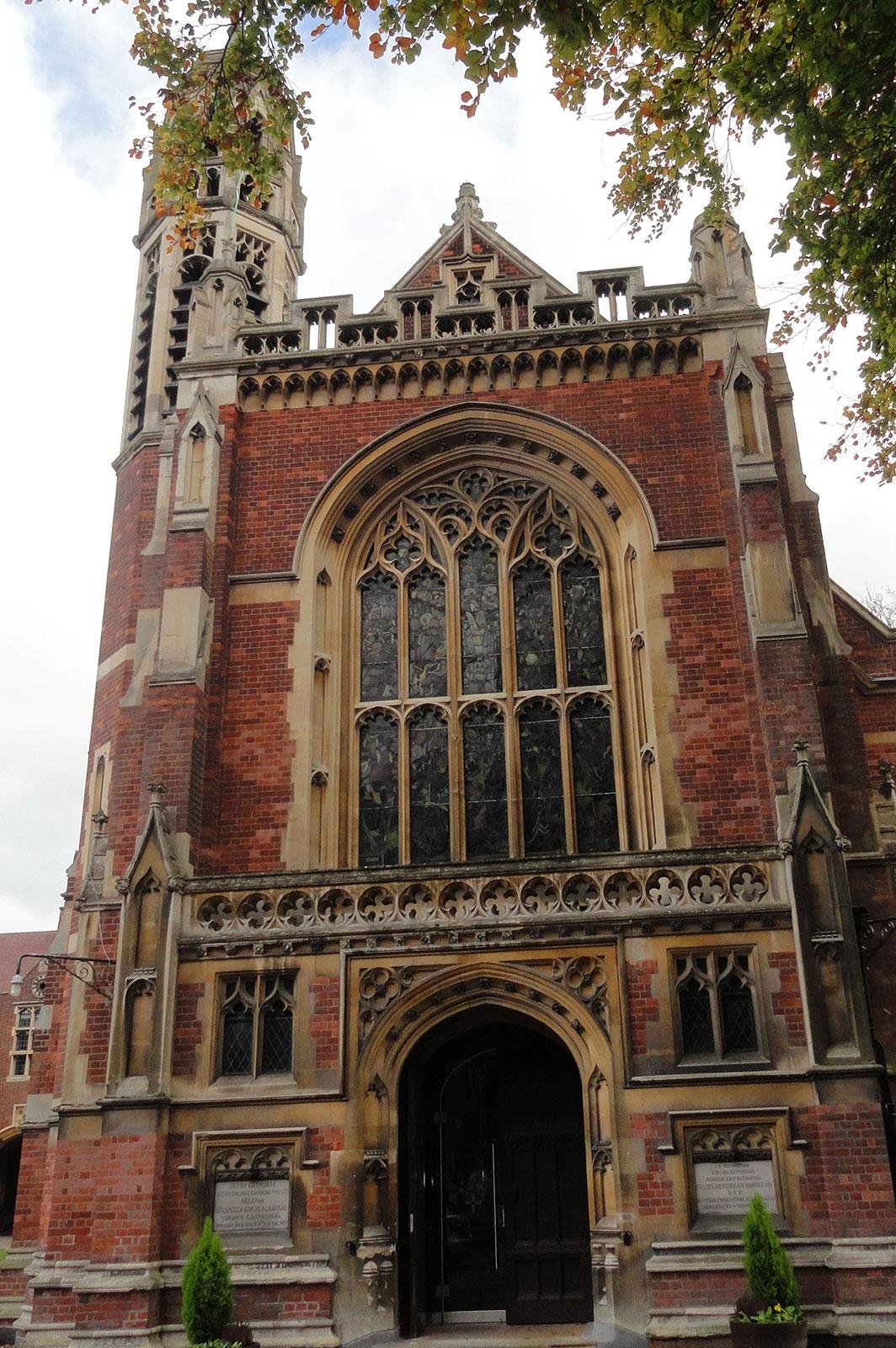 Arched Glass Entrance Doors at Leys School, Cambridge