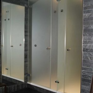 Sandblasted Glass Shower Cubicles