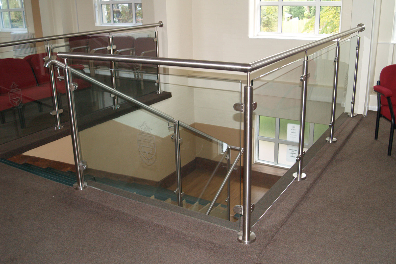 Post & Rail Glass Balustrade Balcony & Balustrade