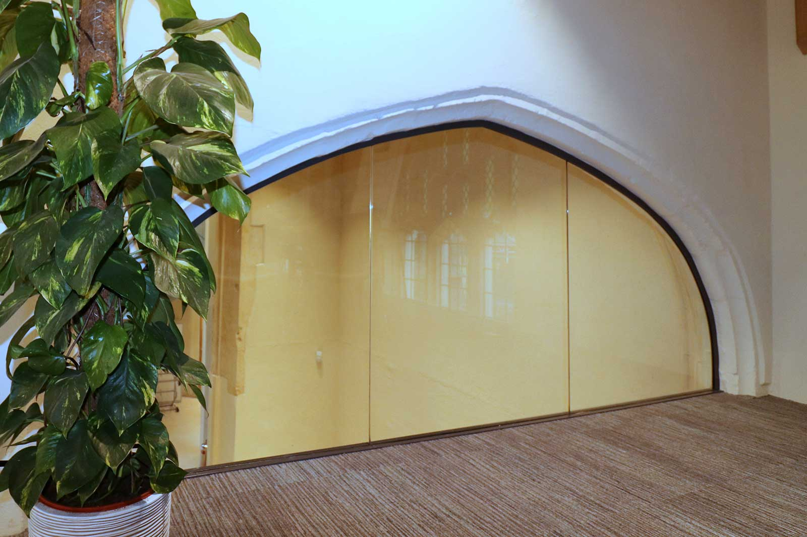 Glass Arch Infil to Meeting Room, St. Mary's Church