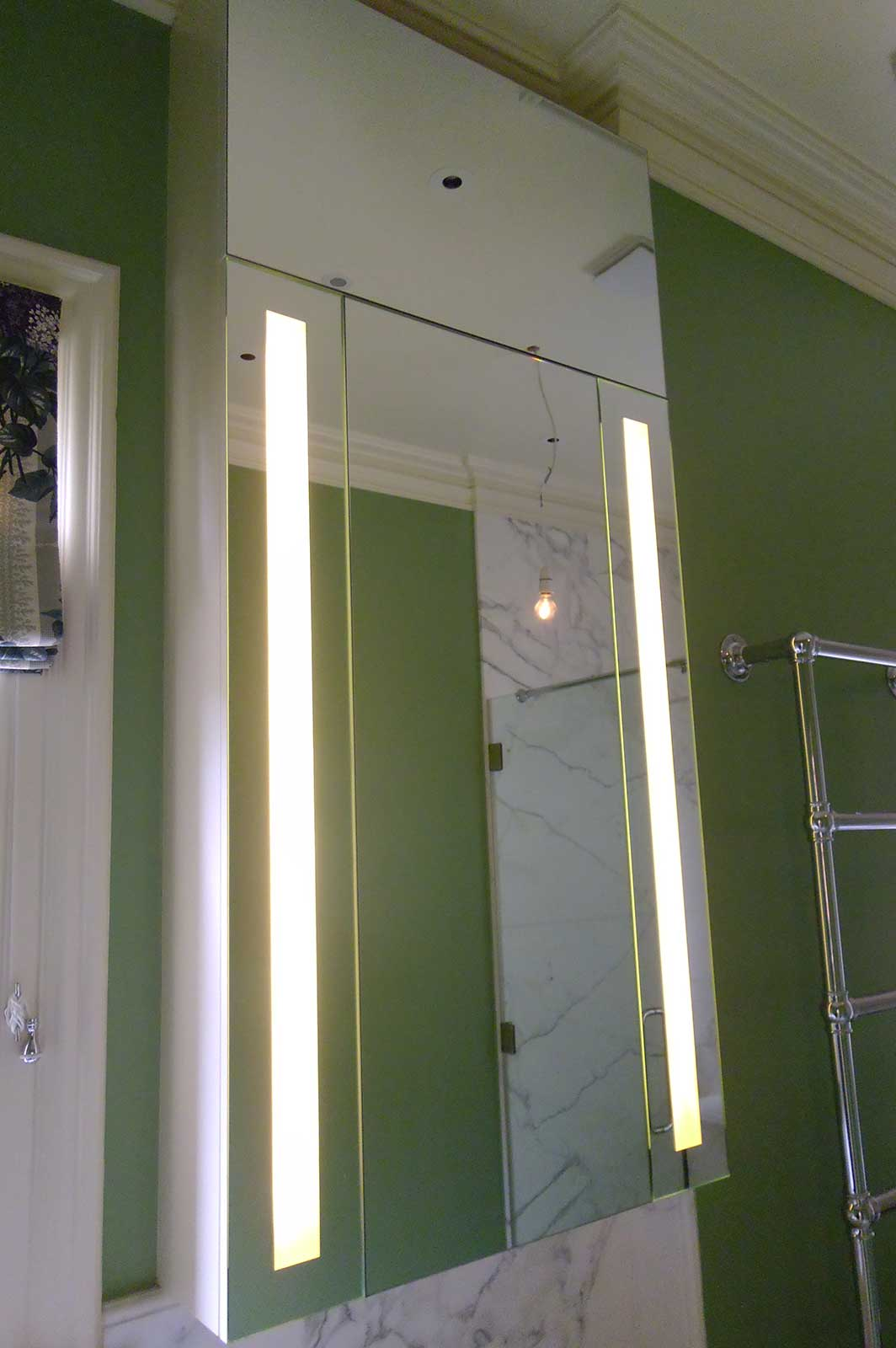 Custom Back lit bathroom mirror