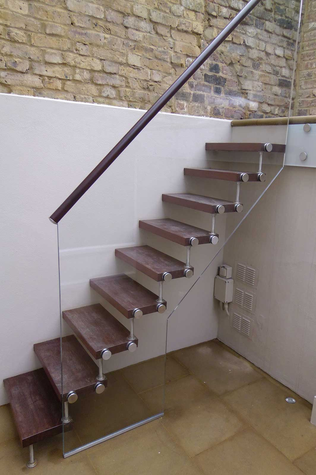 External Frameless Glass Balustrade Stairs