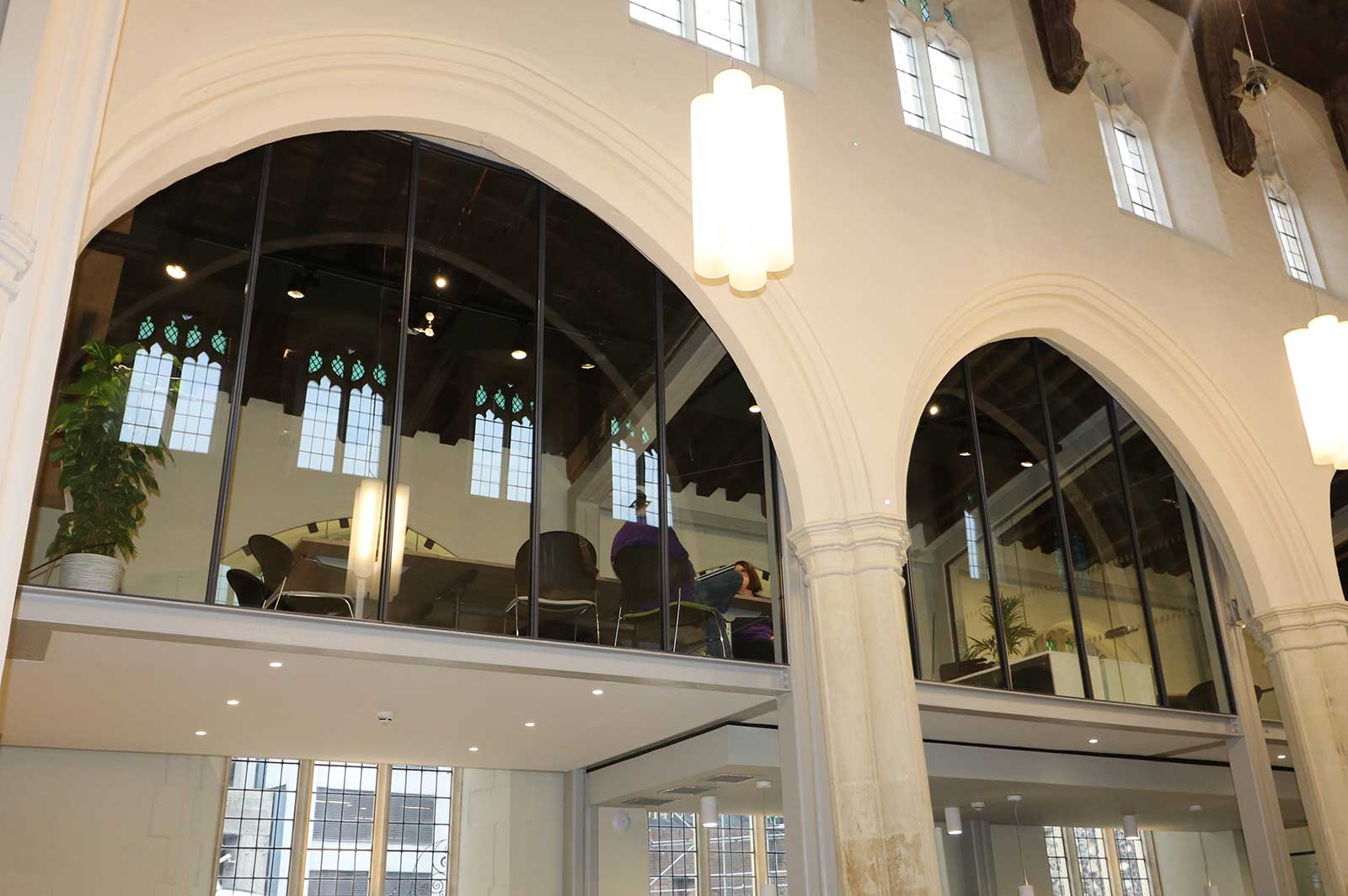 Glass Meeting Rooms Structural Glazing at St Mary's