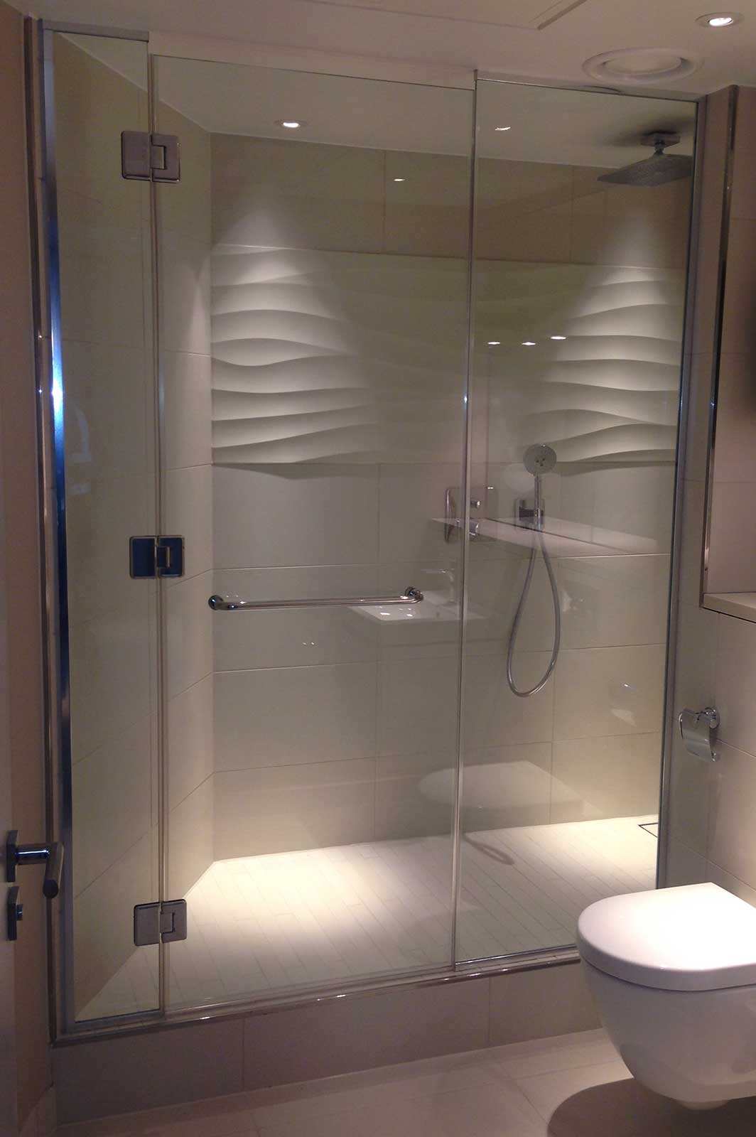 Bespoke Frameless Glass Shower Enclosure Three Quays