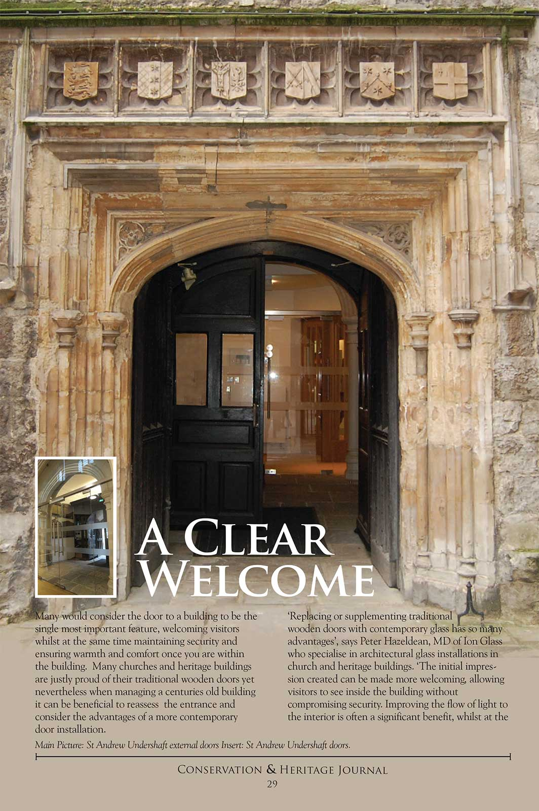 A Clear Welcome - Conservation & Heritage Journal