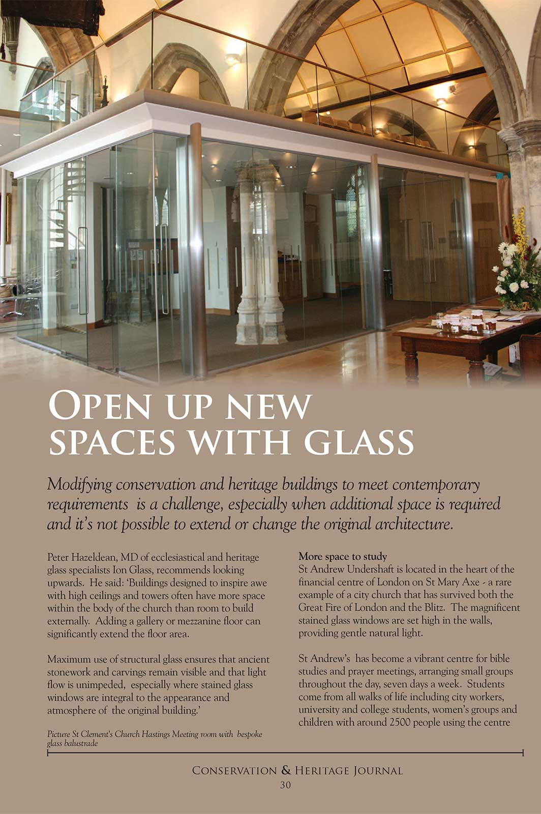 Open Up New Spaces With Glass - Conservation & Heritage Journal