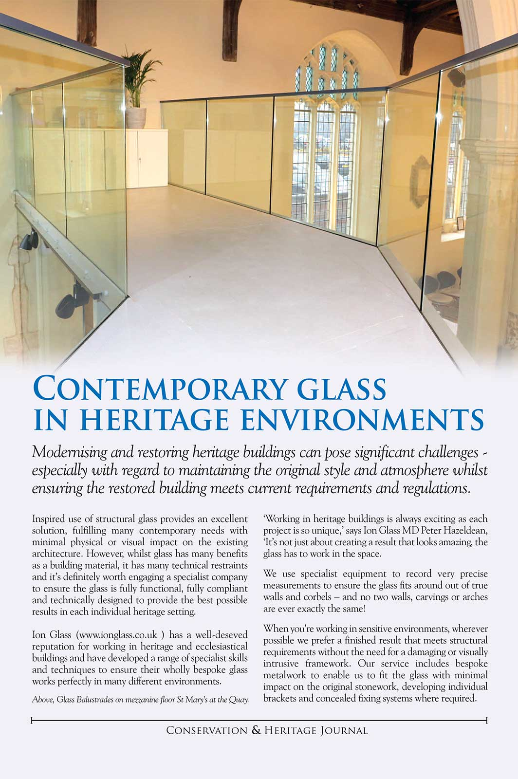 Contemporary Glass in Heritage Environments - Ion Glass