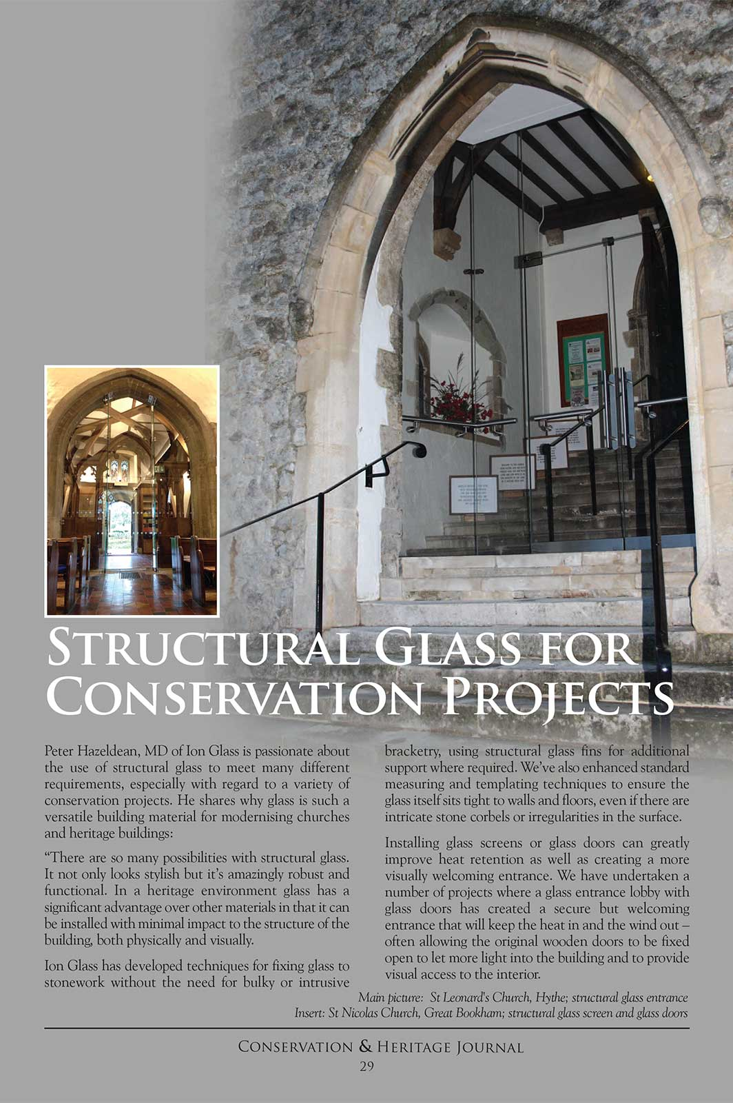 Structural Glass For Conservation & Heritage Projects - Ion Glass