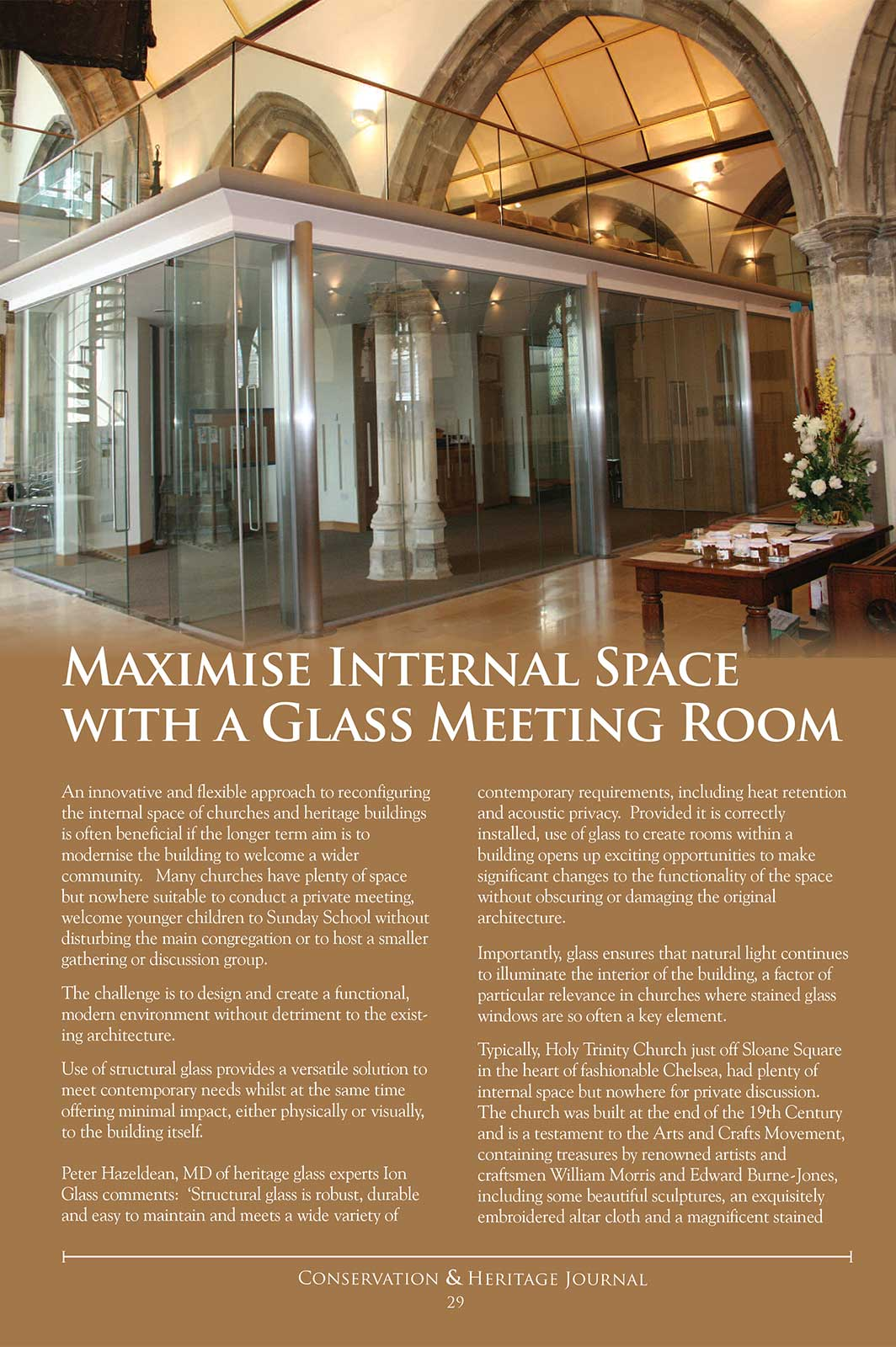 Maximise Internal Space With A Glass Meeting Room - Conservation & Heritage Journal