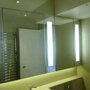Bespoke Washroom Mirrors with Back Lighting