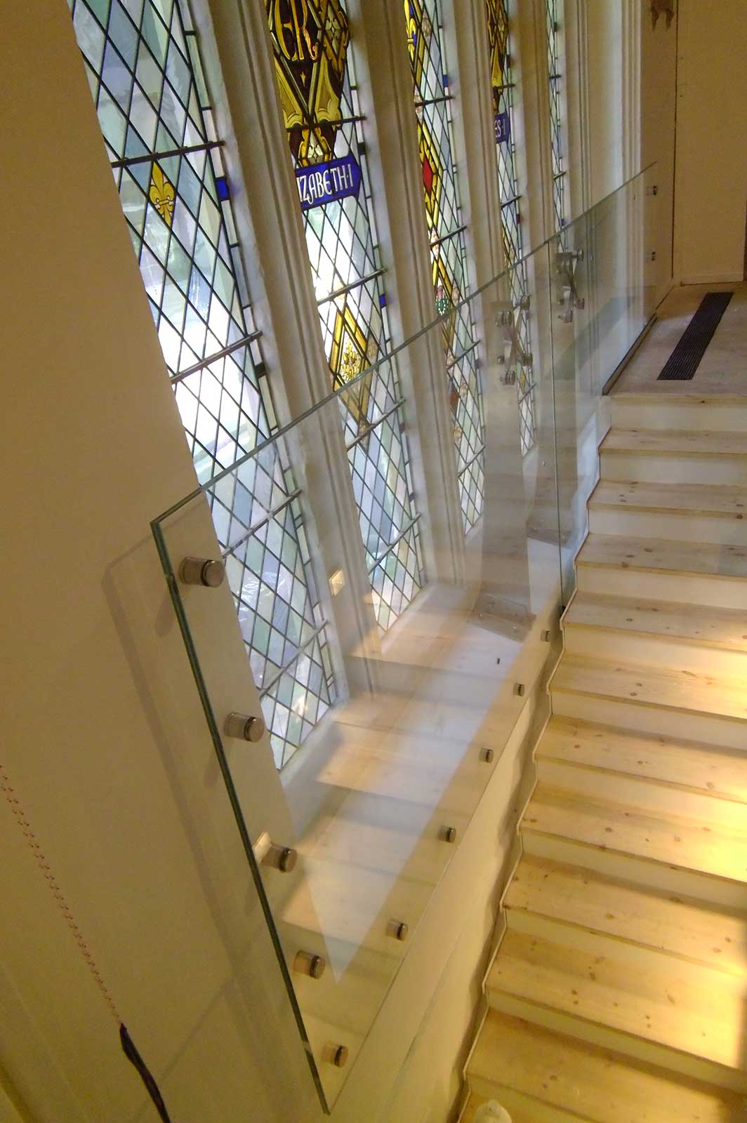Protective Glass Screen to Staircase Windows