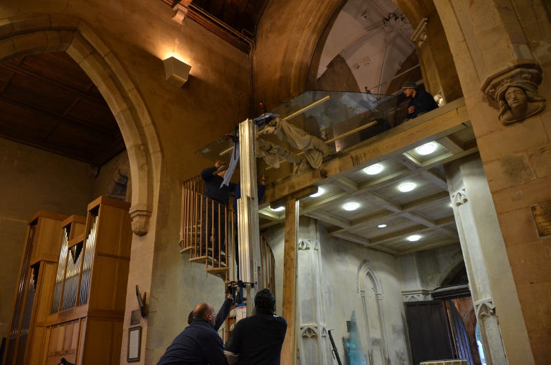 Installing Glass At Height Using Genie Lift St Peter's Church