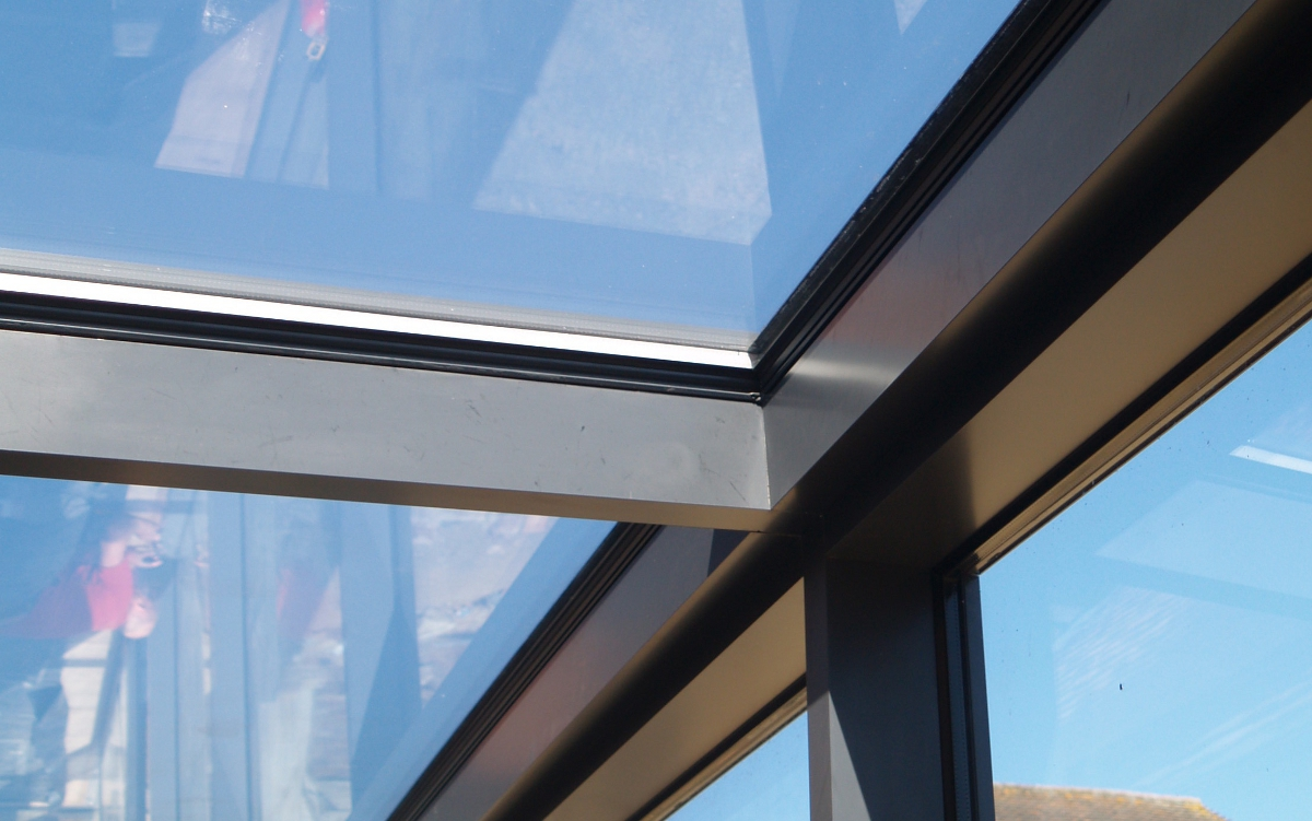 Architectural Glass Linkway with Glazed Roof Panels