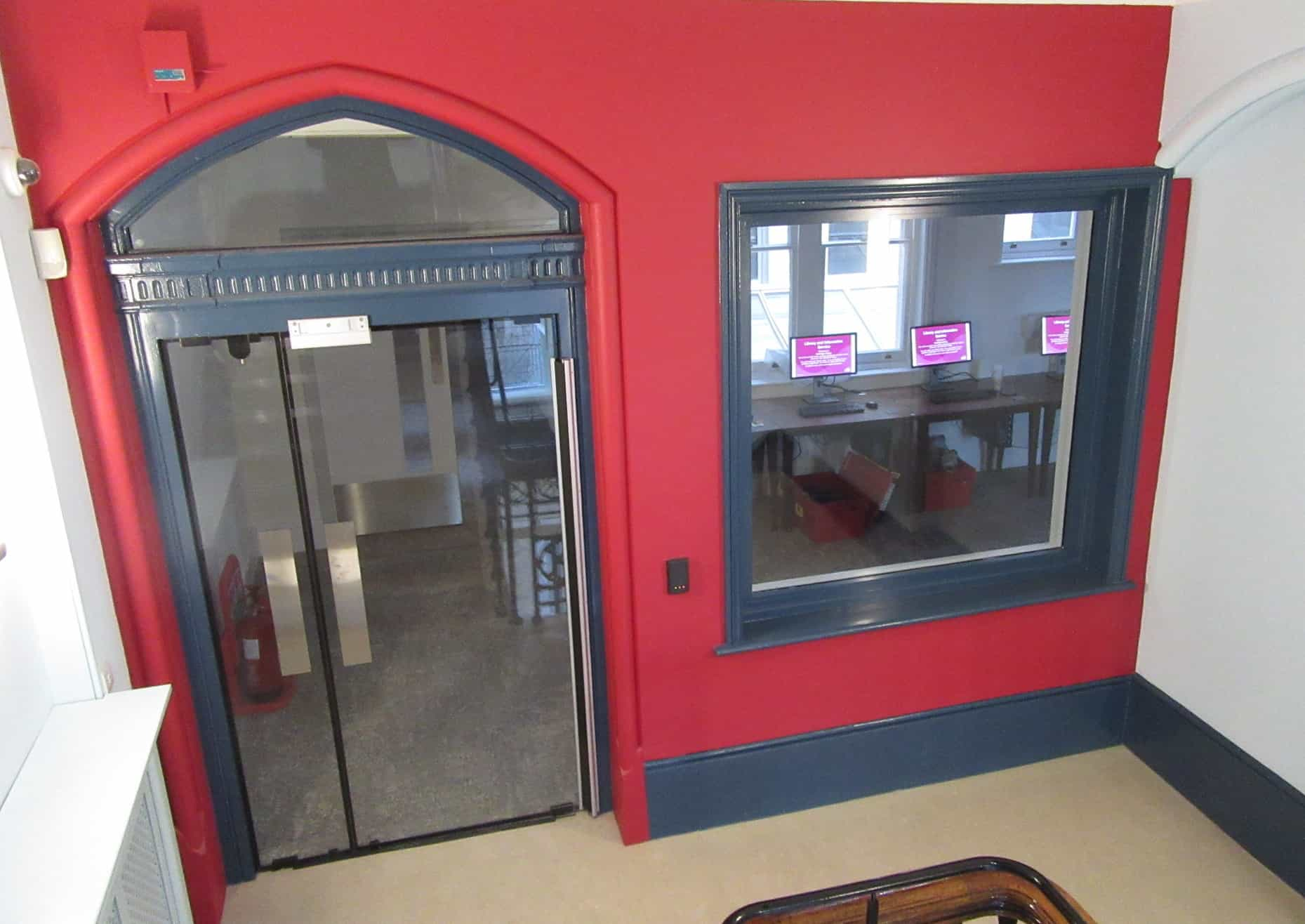 Hastings Library Fire Rated Glass Double Doors With Window Panel